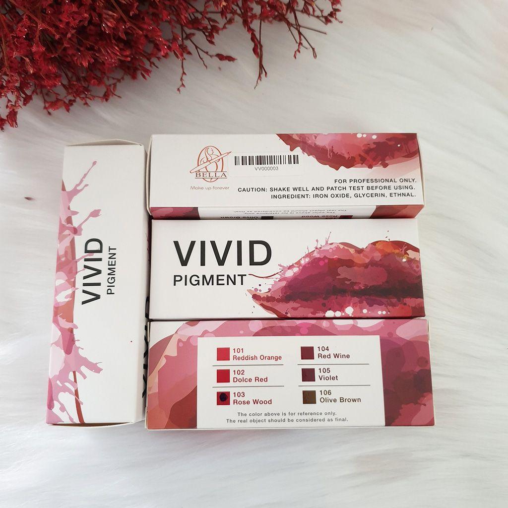 Mực xăm môi Vivid 103 có màu Rose Red (Đỏ đậm)