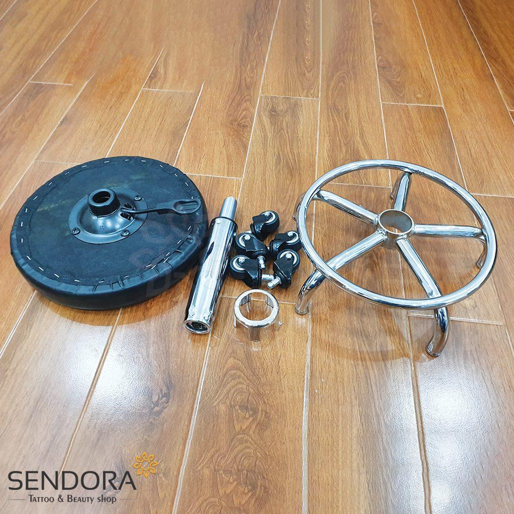 Các bộ phận của ghế spa tròn xoay inox không tựa GHEKT038