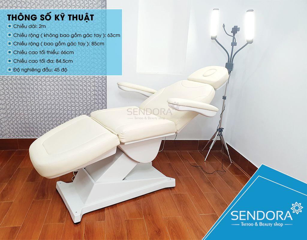 Sendora.vn Giường thẩm mỹ chỉnh điện, ghế tiêm Filler