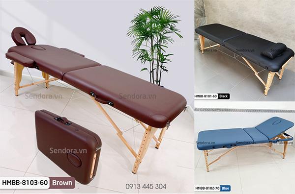 Giường vali chân gỗ dùng trong phun xăm, tiêm filler giá bao nhiêu