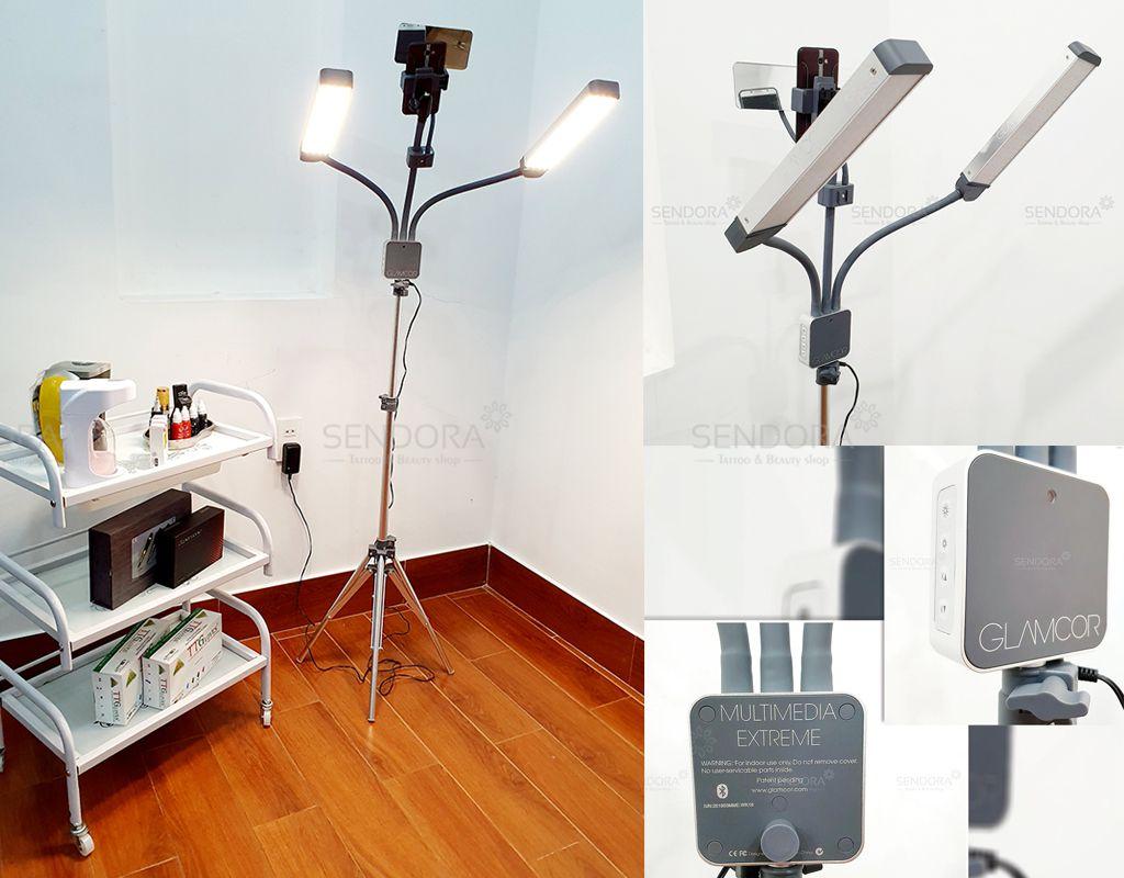 Tổng hợp các loại đèn phun xăm, đèn nối mi, Đèn spa glamcor litkit