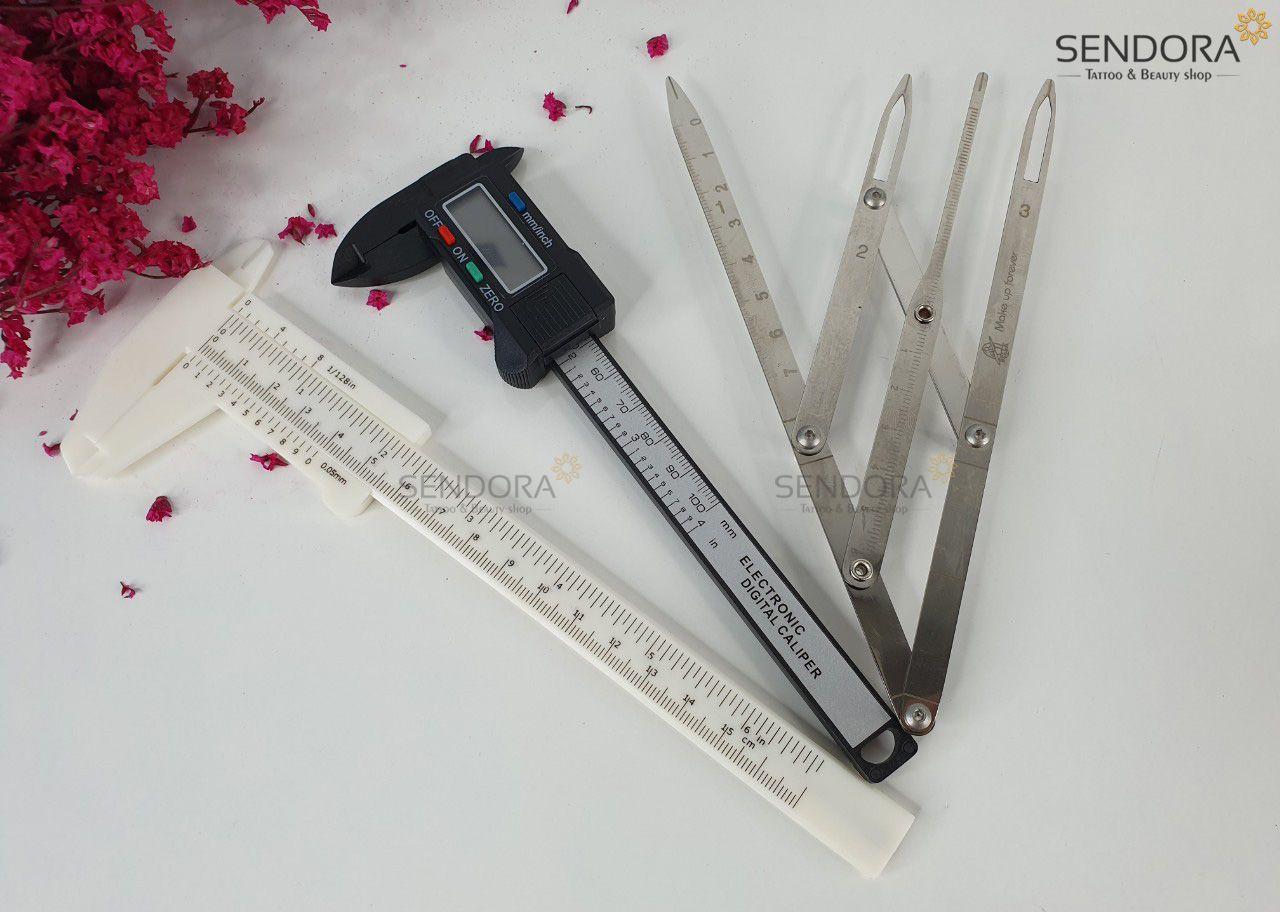 Thước đo - Những dụng cụ cần có cho điêu khắc chân mày