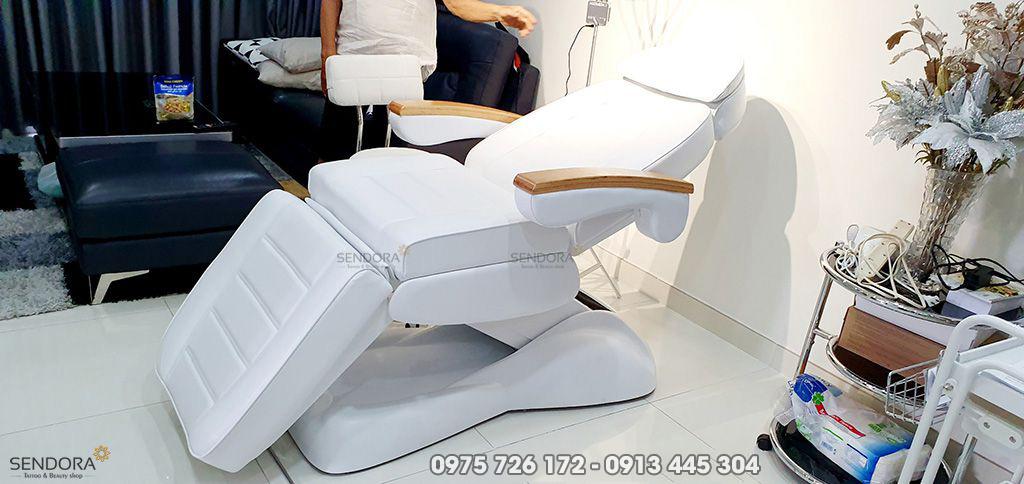 Ghế tiêm truyền trắng giảm béo filler, Giường tiêm Bottox DM-273B