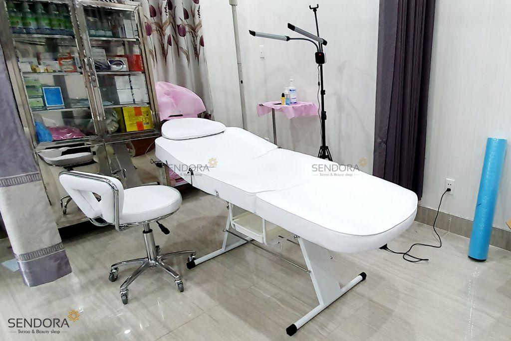 Giá giường phun xăm, giường thẩm mỹ chỉnh điện tại Gò Vấp