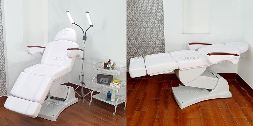 Địa chỉ bán ghế phun xăm, giường tiêm Filler chỉnh điện tay gỗ giá rẻ tại Sài Gòn