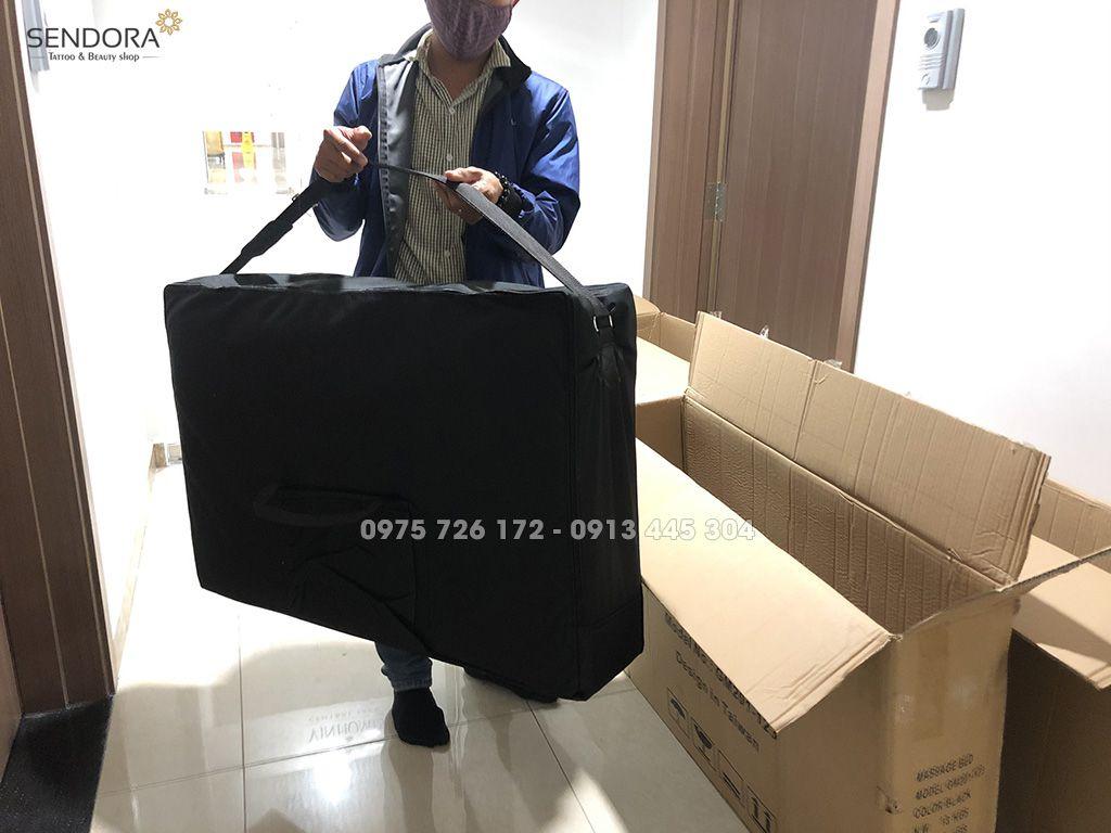 Giường vali xếp di động, giường phun xăm gấp lại được tại Hồ Chí Minh