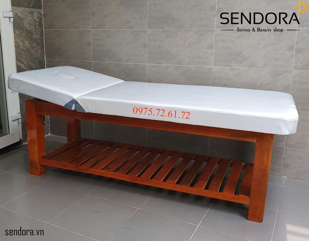 giường massage gỗ