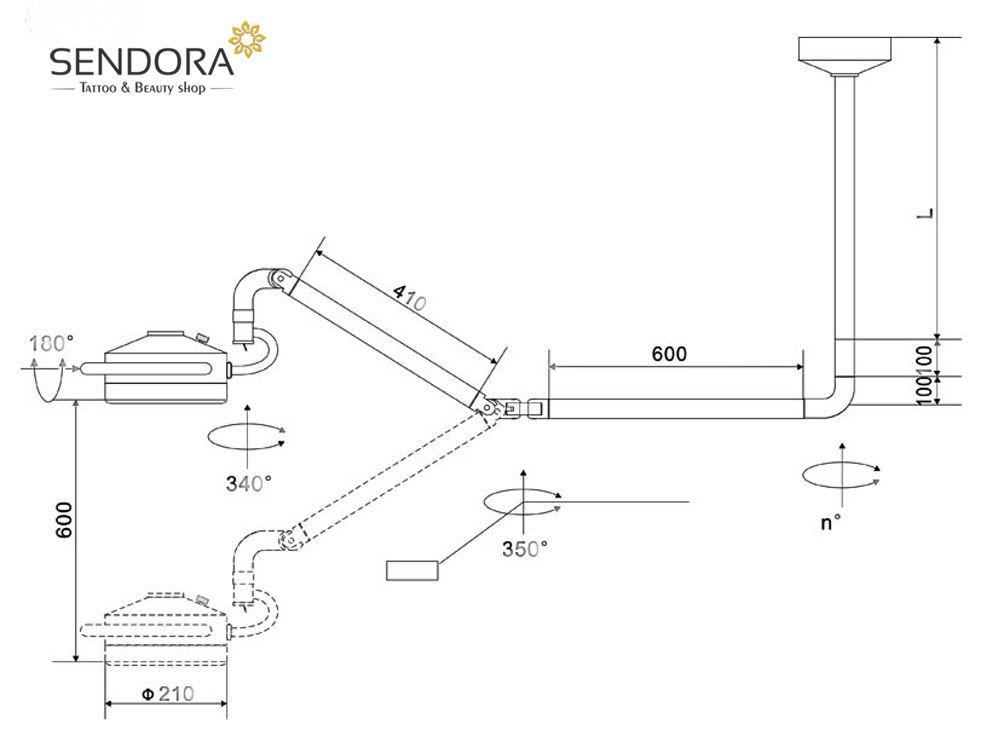 Mô tả thông số đèn mổ LED treo trần