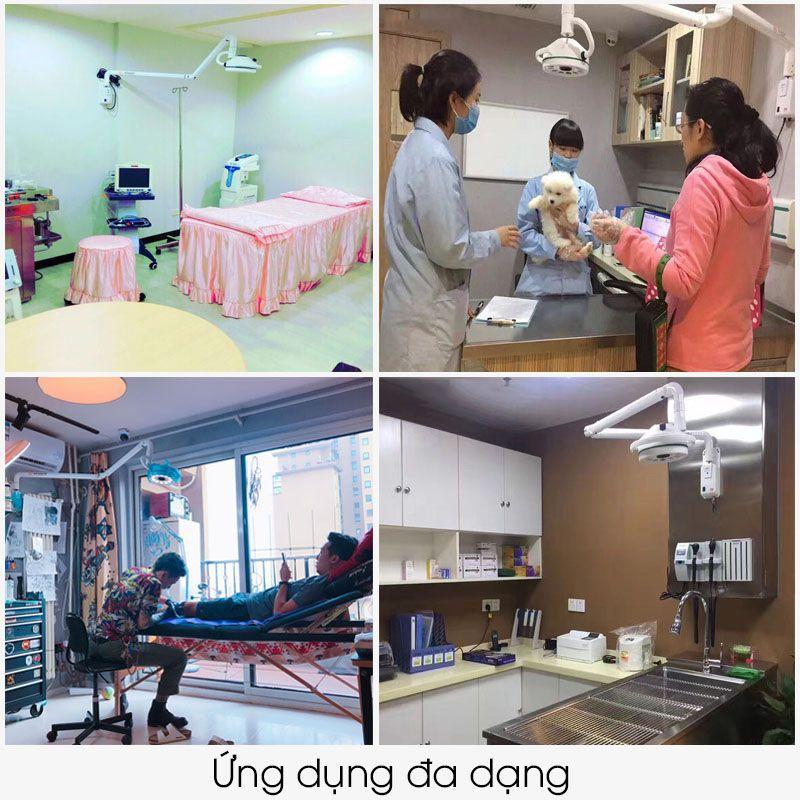 Ứng dụng của đèn tiểu phẫu LEDtreo tường, sendora.vn đèn mổ giá tốt