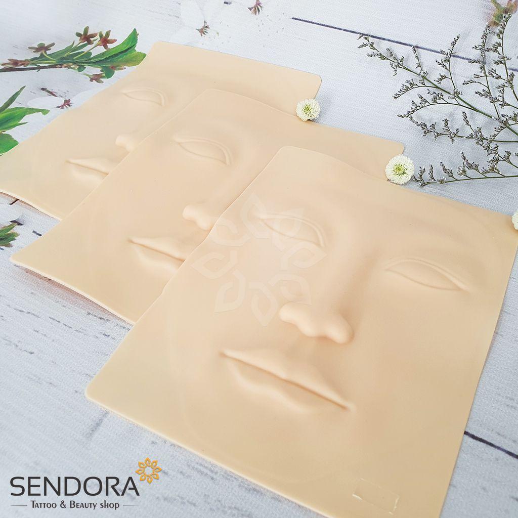 Da tập xăm 3d hình khuôn mặt, chất liệu cao cấp dẻo mềm như da thật