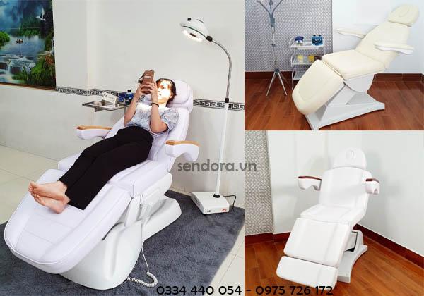 giá giường phun xăm chỉnh điện