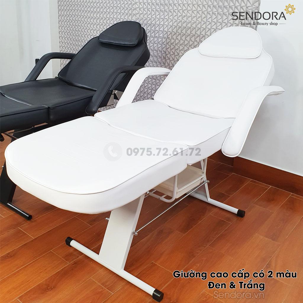 Giường tiêm botox, truyền trắng cao cấp AG3558