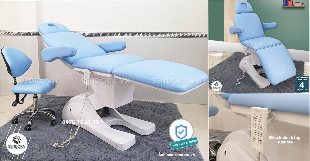 giường spa chỉnh điện, giường spa điện đẹp nhất tại tphcm