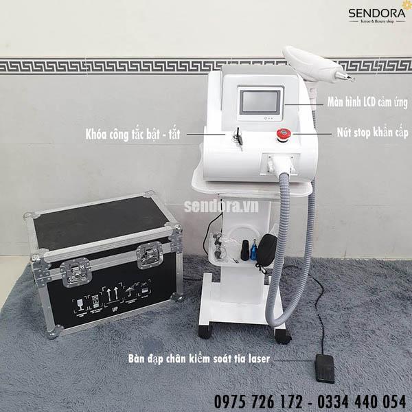 máy laser xóa xăm có chức năng bắn laser cacbon giúp trẻ hóa làn da