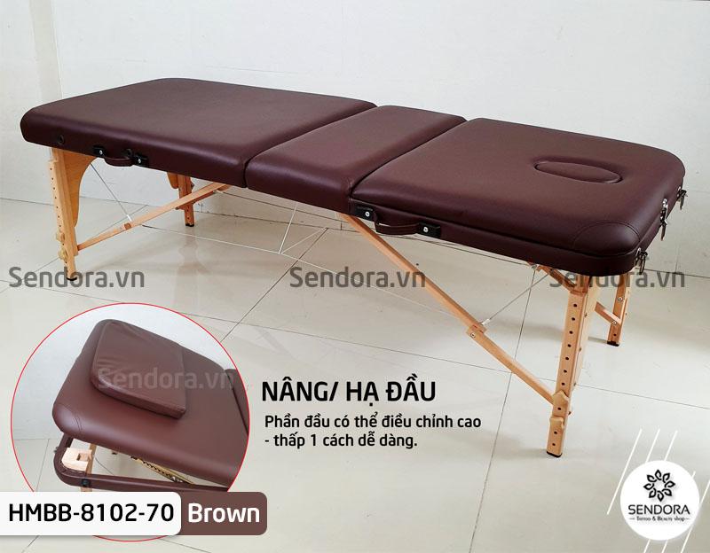 Giường vali gấp Hi-MEC HMBB-8102-70 có thể nâng hạ đầu dễ dàng