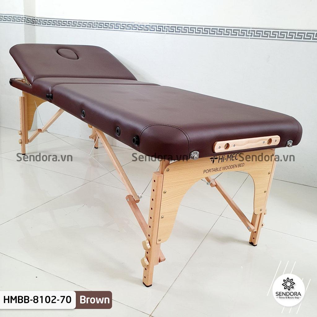 Giường vali cao cấp Hi-MEC HMBB-8102-70 màu nâu
