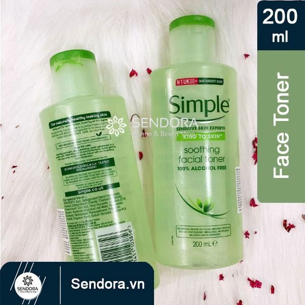 Nước hoa hồng Simple smoothing facial toner số 1 tại Anh