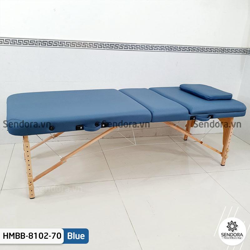 Giường massage xếp gọn chân gỗ Hi-Mec