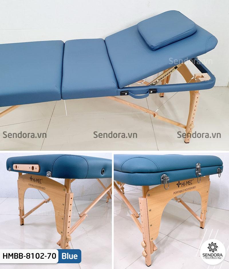 Giường vali chân gỗ 3 khúc HMBB-8102-70