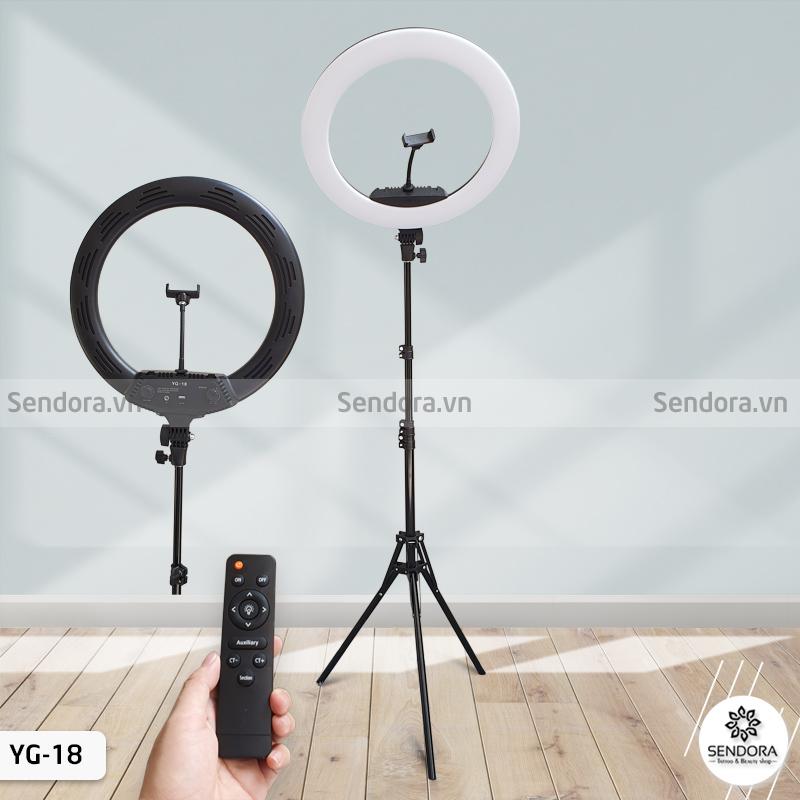 Đèn led phun xăm YG-18, đèn livestream và dùng nối mi
