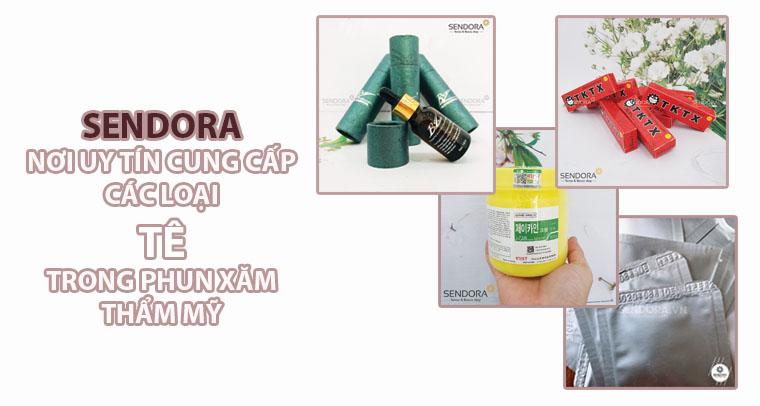 Sendora - nơi uy tín cung cấp các loại tê trong phun xăm