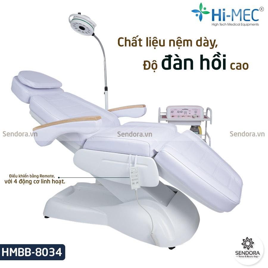 Giường nối mi chỉnh điện HMBB-8034 trang bị 4 động cơ cao cấp