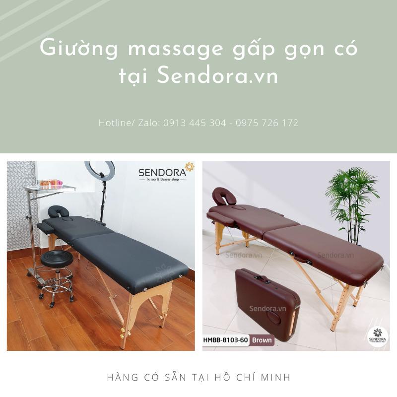 Giường massage gấp gọn có tại Sendora.vn
