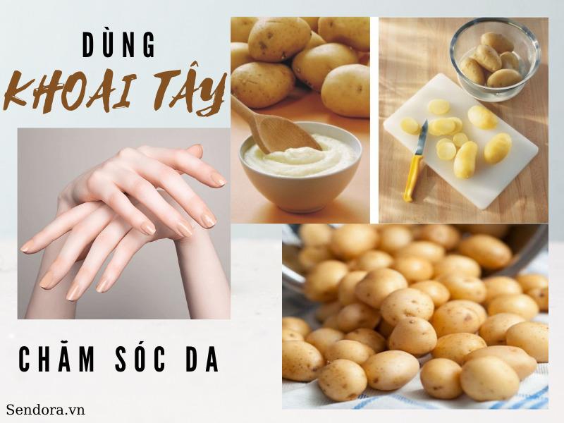 Dùng khoai tây chăm sóc da