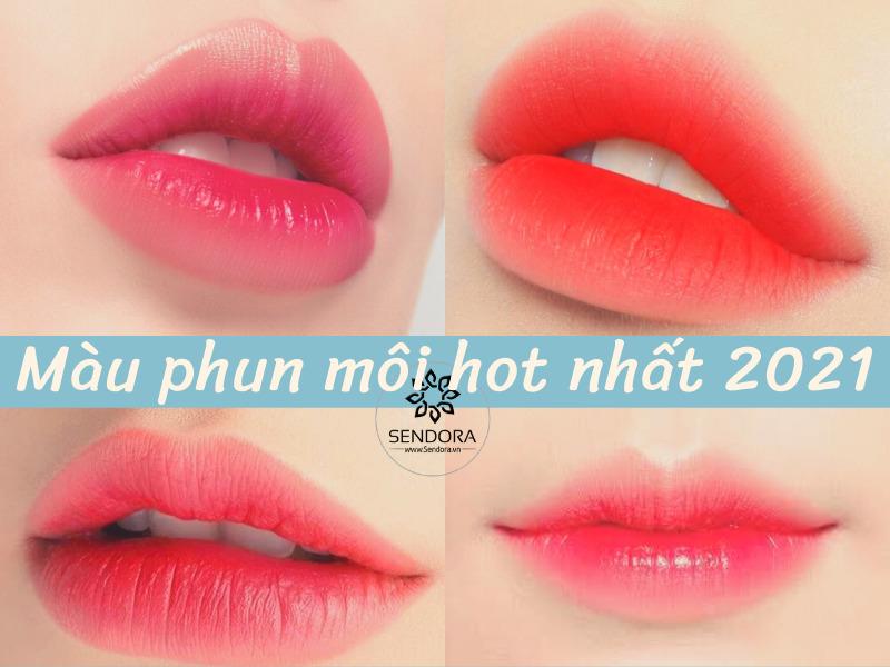 Màu phun môi hot nhất 2021