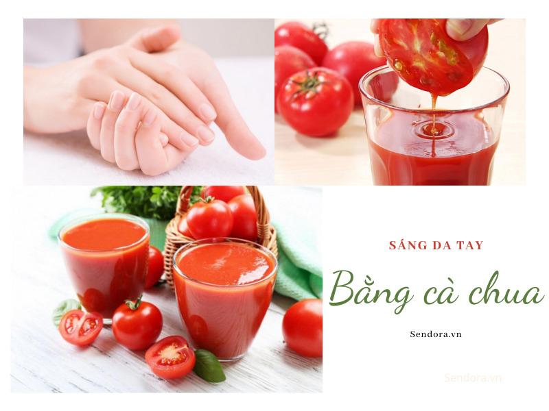 Sáng da tay bằng cà chua