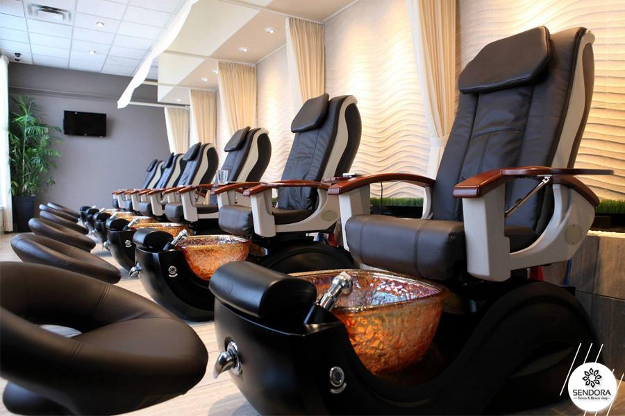 Ghế nail cao cấp massage lưng cho khách hàng