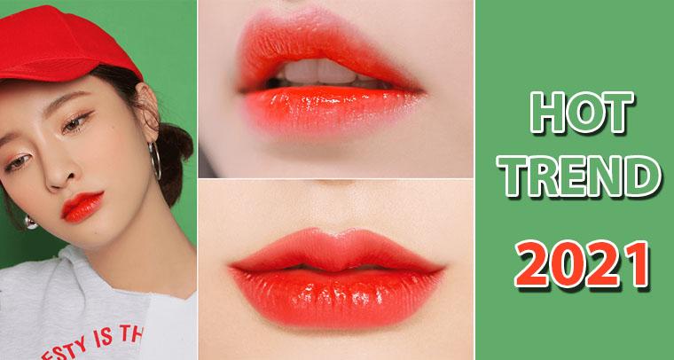 Vì sao xăm môi đỏ cam lại hot