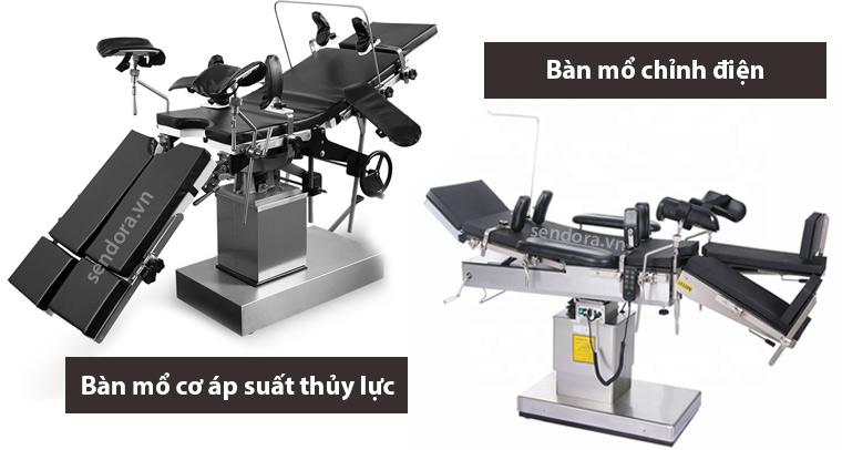 2 loại bàn mổ phổ biến thông dụng