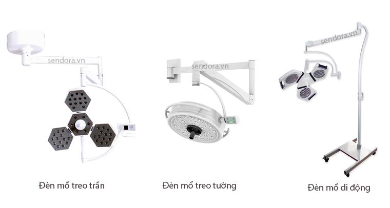 3 loại thiết kế đèn mổ