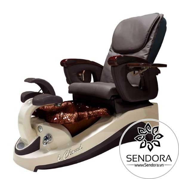 Mẫu ghế Pedicure đẹp của hãng PSOA (model: ICloud) có nhiều tùy chọn màu sắc cho vải bọc ghế và bồn ngâm chân