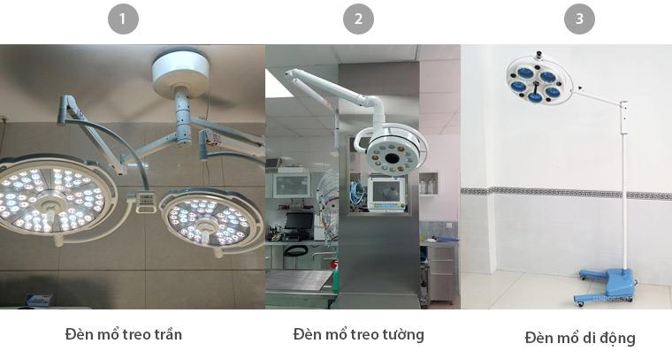 Các loại đèn mổ phẫu thuật
