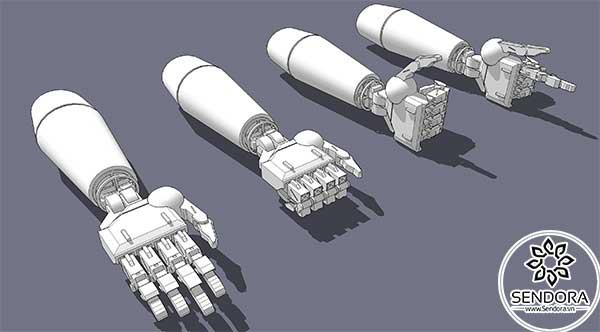 Cánh tay cơ học 3D dùng cho robot hình người