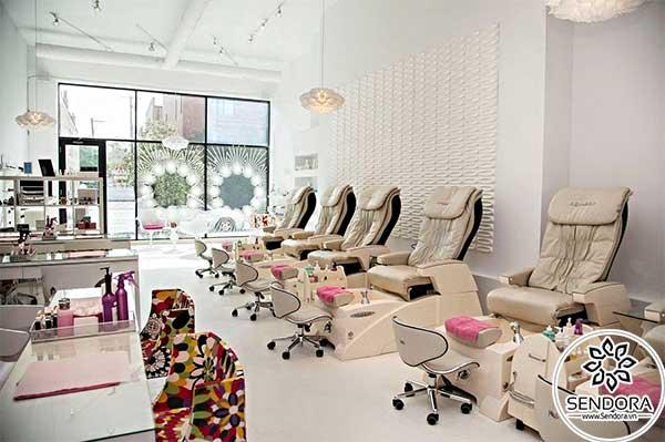 Dãy ghế nail đẹp nhất 2021 dùng trong salon nail