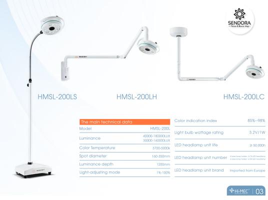 Đèn mổ phẫu thuật Hi-Mec HMSL 200