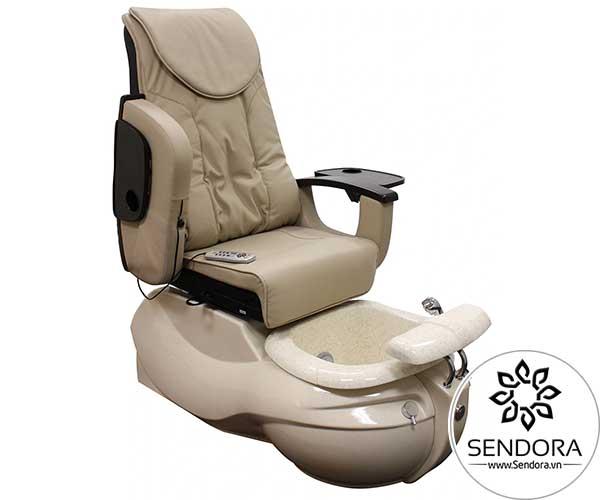 Mẫu ghế nail cao cấp màu kem sữa này thích hợp để sử dụng trong các trung tâm nail sử dụng tông màu sáng