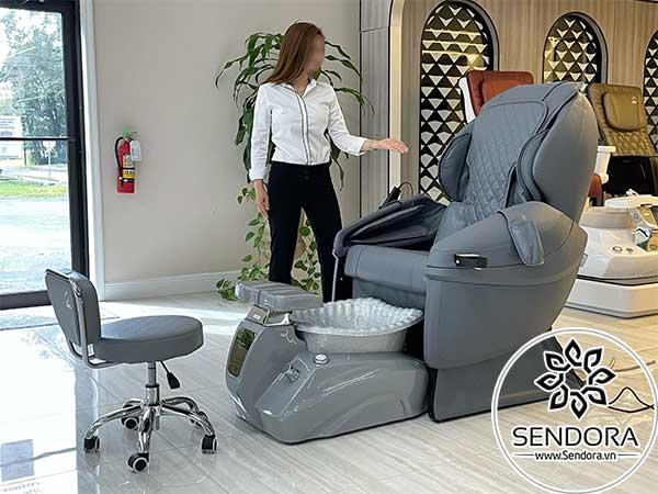 Mẫu ghế nail cao cấp đẹp và tốt thường dùng tại các salon nail chuyên nghiệp ở Mỹ