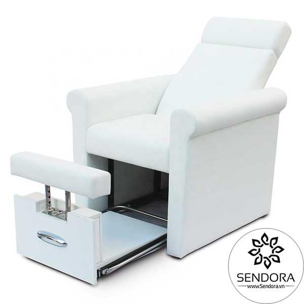 Ghế ngồi làm nail giá rẻ Hi-MEC mẫu 1 thao tác hoàn toàn bằng tay, không có các chức năng tiện ích như ghế nail cao cấp