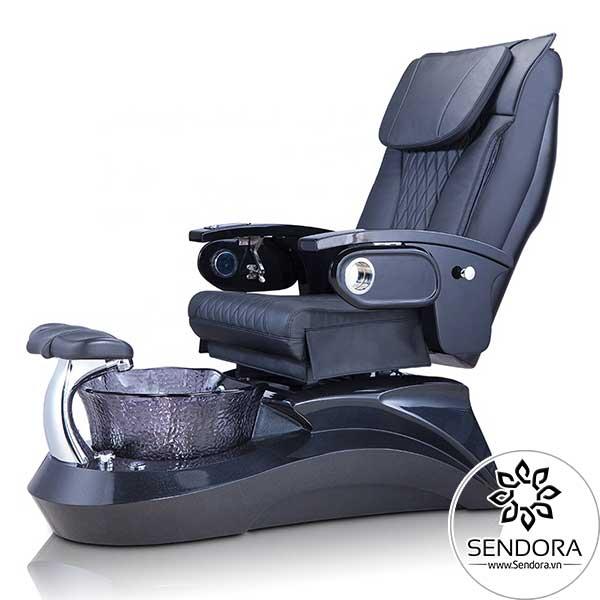 Ghế spa làm nail Hi-MEC cao cấp mẫu 10 phiên bản màu đen