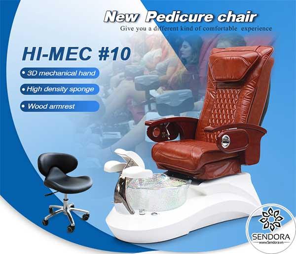 Ghế massage nail cao cấp Hi-MEC mẫu 10 do Sendora.vn phân phối chính hãng trên toàn quốc