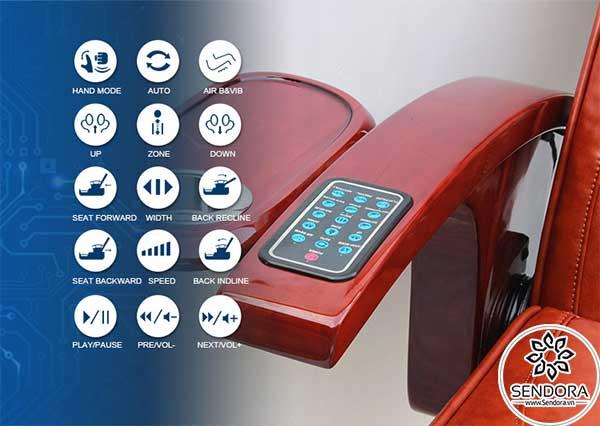 Ghế Spa làm nail Hi-MEC mẫu 10 được trang bị remote điều khiển giúp kiểm soát đầy đủ các chức năng quan trọng của ghế