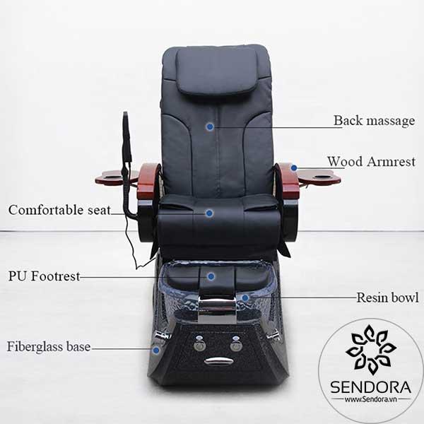 Các bộ phận quan trọng nhất của ghế massage nail cao cấp