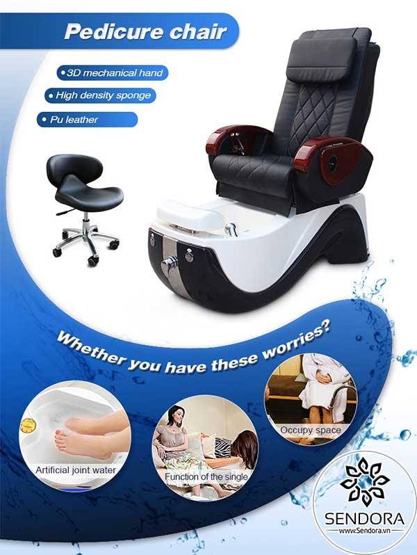 Ghế nail massage cao cấp Hi-MEC mẫu 9 do Sendora.vn phân phối chính hãng trên toàn quốc
