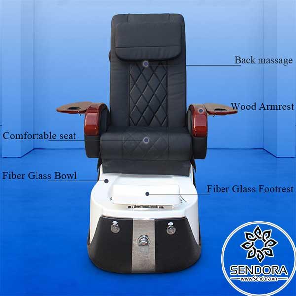 Các bộ phận chính trên ghế nail massage cao cấp Hi-MEC mẫu 9