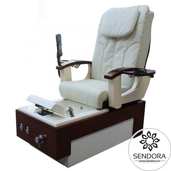 Ghế làm nail massage Hi-MEC mẫu 11 phiên bản màu trắng