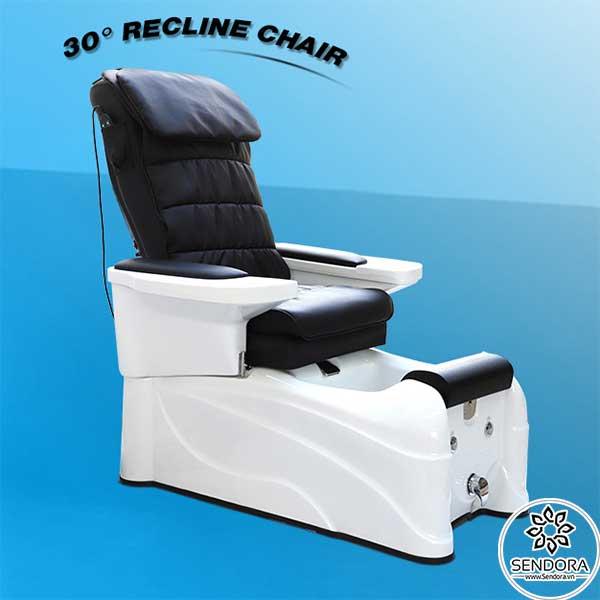 Ghế có thể ngả ra sau thêm 30 độ để tăng sự thoải mái cho người sử dụng